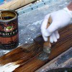 Ochrona drewna, barwienie - Ekotep Smoła drzewna- video